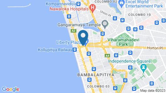 Mövenpick Hotel Colombo Map