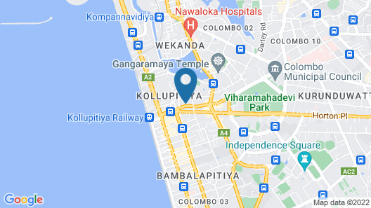 Mövenpick Hotel Colombo Map