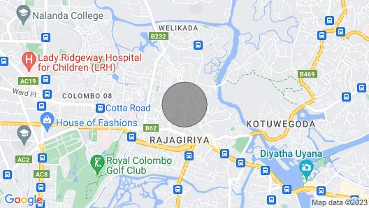 Luxury Apartment at Rajagiriya Map