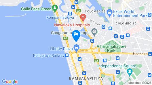 Cinnamon Grand Colombo Map