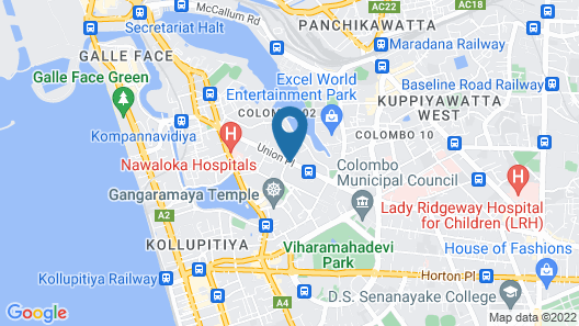 Bella Vista Apartments OnThree20 Colombo Map