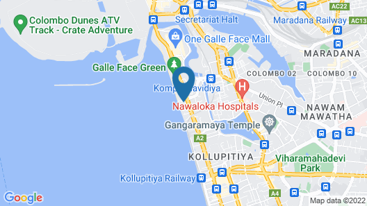 Galle Face Hotel Map