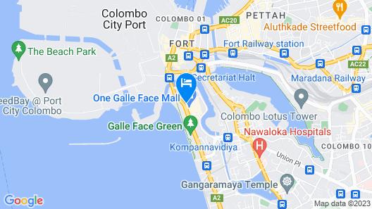 Shangri-La Hotel, Colombo Map