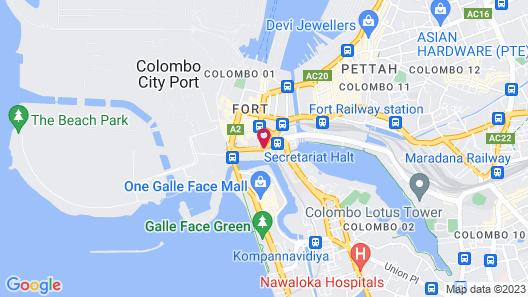 Hilton Colombo Map
