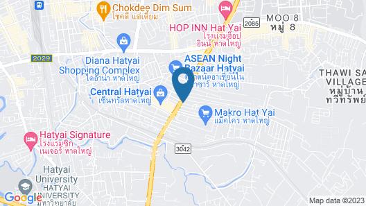 Crystal Hotel Hat Yai Map