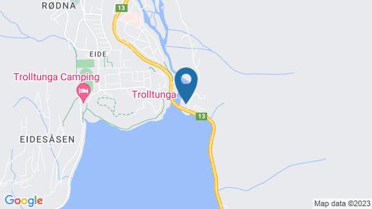 Trolltunga Hotel Map