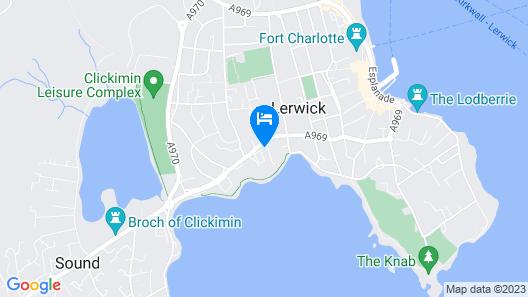 Lerwick Hotel Map