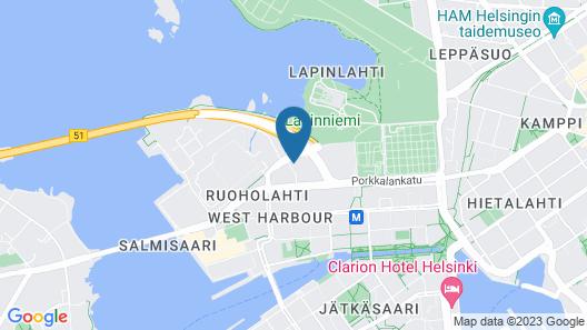 Holiday Inn Helsinki West- Ruoholahti Map