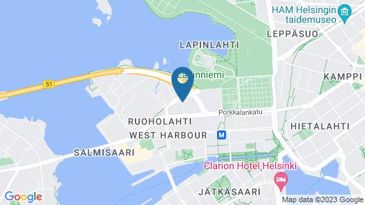 Holiday Inn Helsinki West- Ruoholahti, an IHG Hotel Map