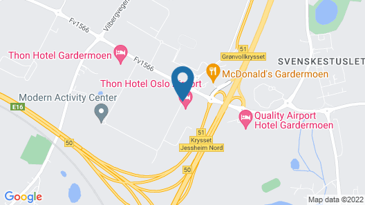 Thon Hotel Oslo Airport Map