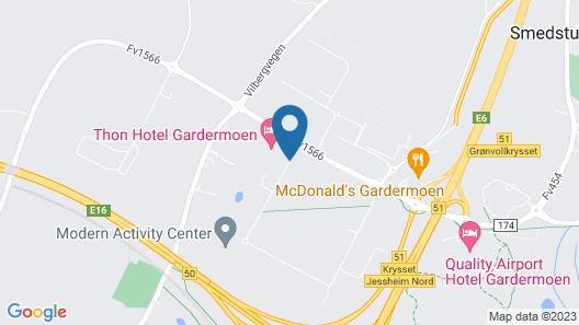 Thon Hotel Gardermoen Map