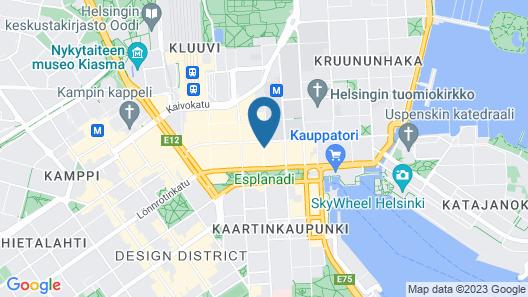 GLO Hotel Helsinki Kluuvi Map