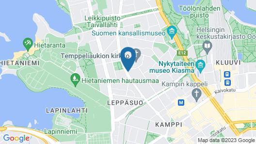 2ndhomes Helsinki Center Penthouse Map