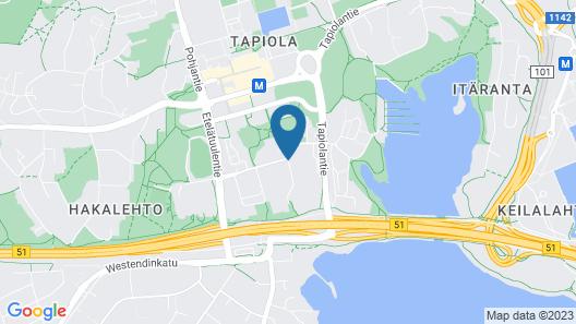 Forenom Serviced Apartments Espoo Tapiola Map
