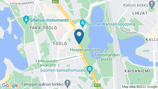 Scandic Park Helsinki Map