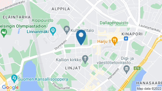 Scandic Kallio Map