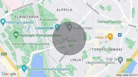 Studio Apartment in Helsinki, Josafatinkatu 15 Map