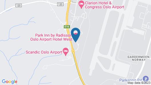 Park Inn by Radisson Oslo Airport Hotel West Map