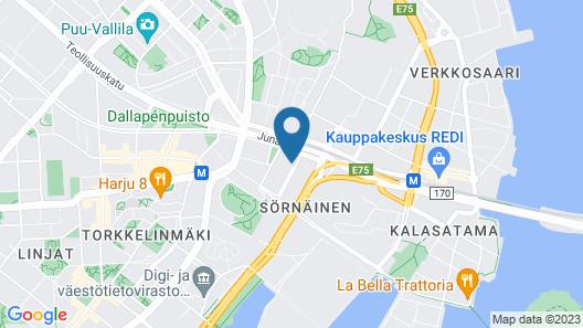 Hiisi Homes Helsinki Sörnäinen Map