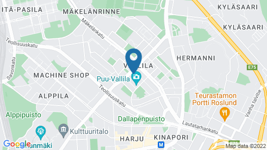 CheapSleep Helsinki Map