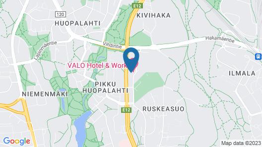 VALO Hotel Helsinki Map
