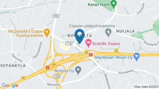Scandic Espoo Map