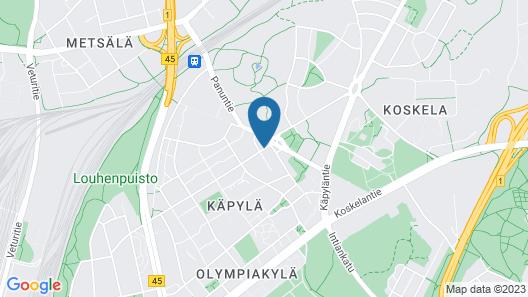 Finlandia Park Hotel Helsinki Map