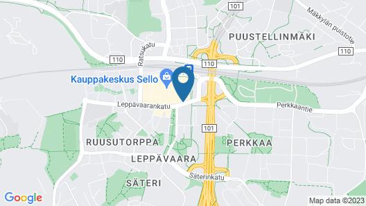 GLO Hotel Espoo Sello Map