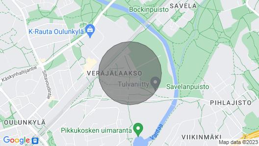 Valoisa huoneisto parvekkeella ja saunalla, lähellä keskustaa Helsingissä / lentokentällä Map