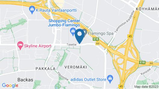 Break Sokos Hotel Flamingo Map