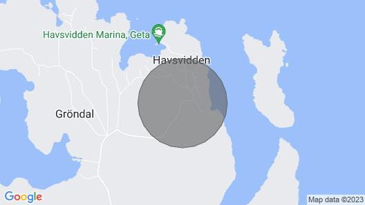 Merenrantahuvila Pohjoismaisessa saaristossa Map