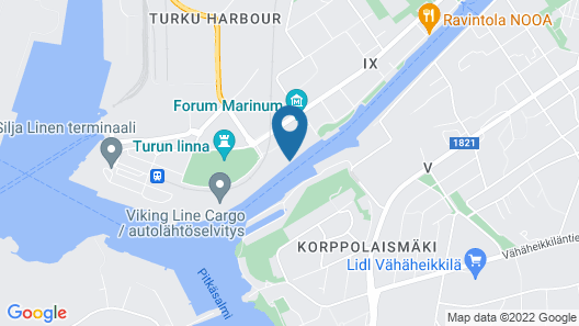 Laivahostel S/S Bore Map