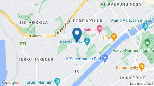 Forenom Serviced Apartments Turku Kakolanmäki Map