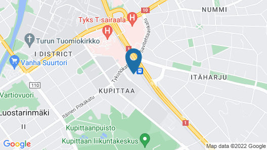 Original Sokos Hotel Kupittaa Map
