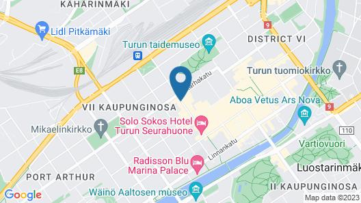Omena Hotel Turku Humalistonkatu Map