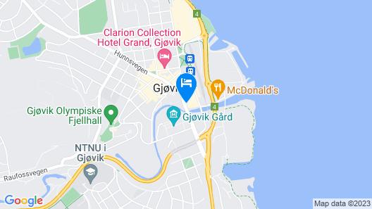 Quality Hotel Strand Gjovik Map