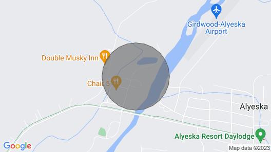 Girdwood - Alyeska Nightly Vacation Condo Rental with Hot Tub Map