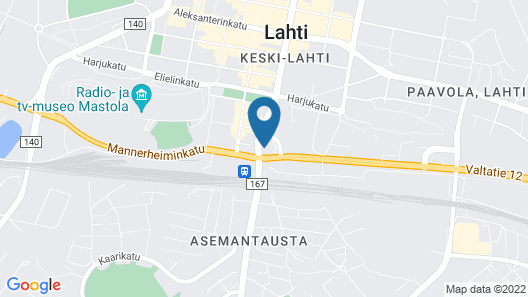 GreenStar Hotel Lahti Map