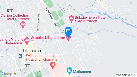 Scandic Lillehammer Hotel Map