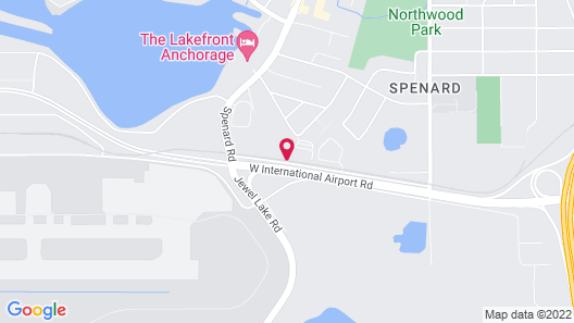Comfort Suites Anchorage International Airport Map
