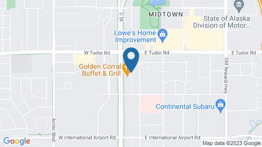 Hilton Garden Inn Anchorage Map