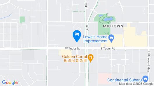 Hampton Inn Anchorage Map
