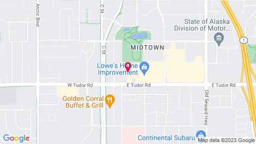 Hyatt Place Anchorage Midtown Map
