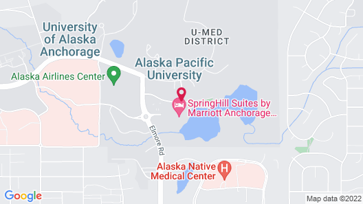 SpringHill Suites Anchorage University Lake Map
