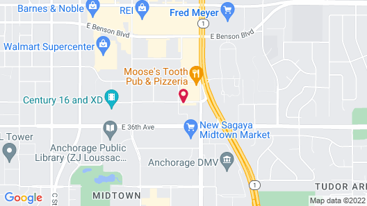 Extended Stay America Suites Anchorage Midtown Map