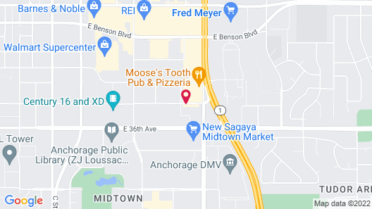 Extended Stay America - Anchorage - Midtown Map
