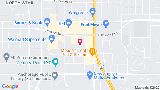 Towneplace Suites Anchorage Midtown Map