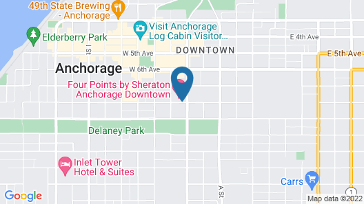 Four Points by Sheraton Anchorage Downtown Map
