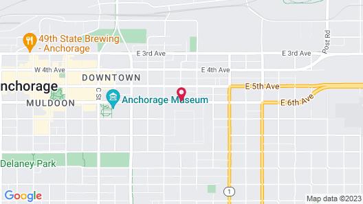 Sheraton Anchorage Hotel & Spa Map