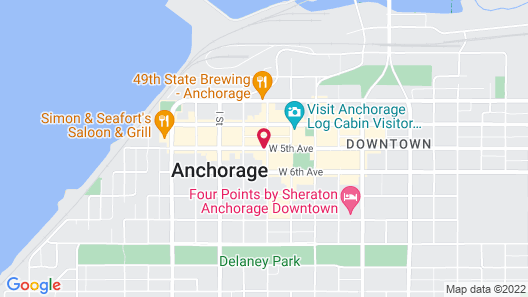 Westmark Anchorage Hotel Map